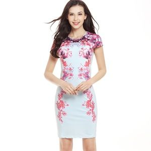 Printed Bodycon Dress Women Summer Dresses